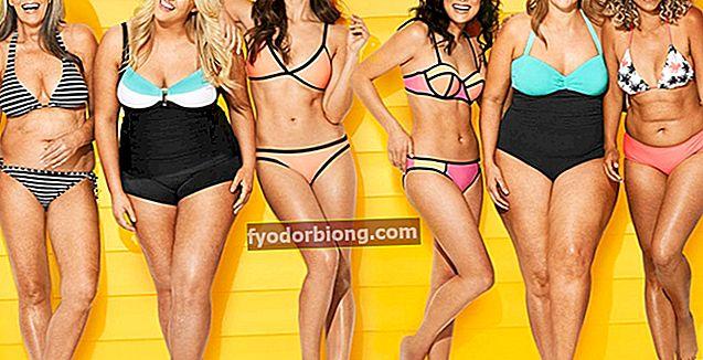 Ideelle bikinimodeller til enhver kropstype