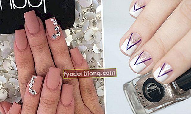 Manicurerede negle: 60 ideer til at komme ud af det grundlæggende på tidspunktet for manicure