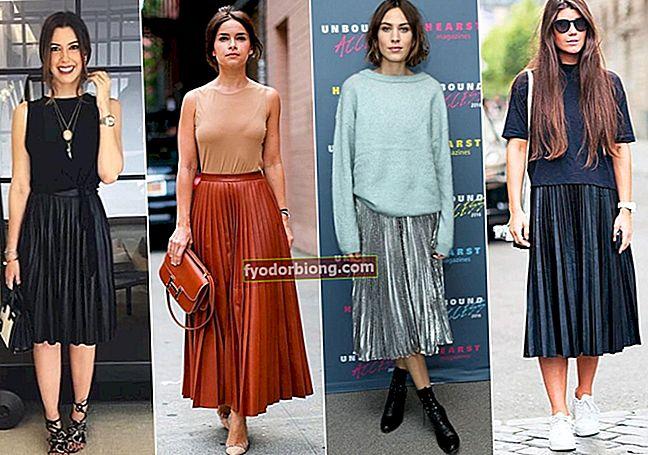 Plisseret nederdel, hvordan man bærer og ser inspirationer ud til alle lejligheder
