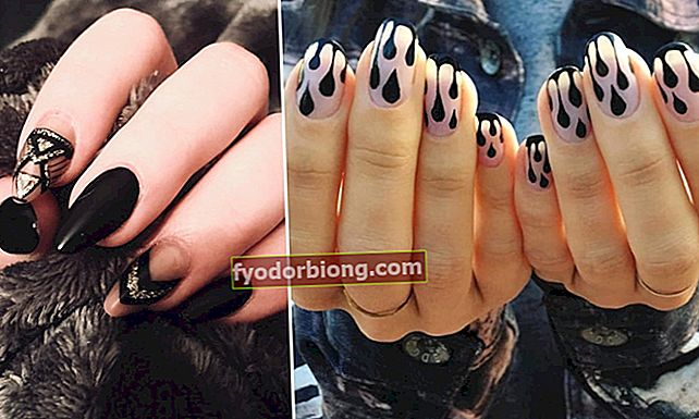 Sort dekorerede negle: 70 inspirationer til din næste manicure