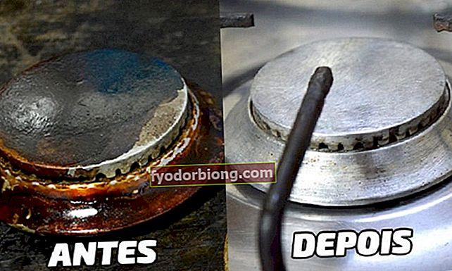 Sådan rengøres komfurets dele, der sidder fast med olie