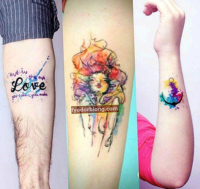 Vesiväri tatuointi, yli 80 erilaista tyyliä innoittamaan