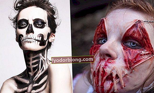 17 skræmmende makeup ideer til Halloween