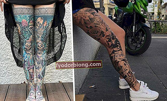 Tetovējums uz kājas - 80 sievišķīgu tetovējumu dizaina un stilu varianti