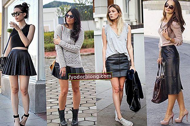 Læder nederdel: ideer og stilarter, så du kan gå rundt og gynge!