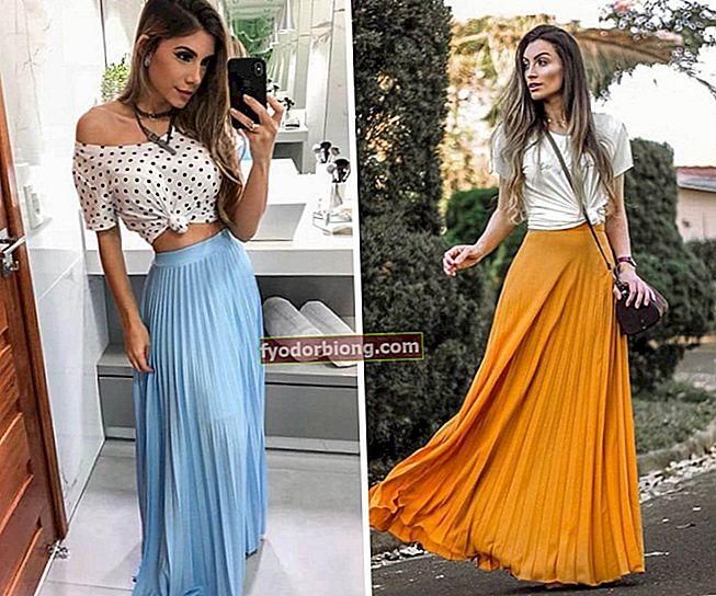 Sådan bæres en lang nederdel - Udseende, tip og tricks til at komponere udseende