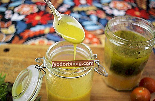 Salatdressing, 10 lette opskrifter for at forbedre salatens smag